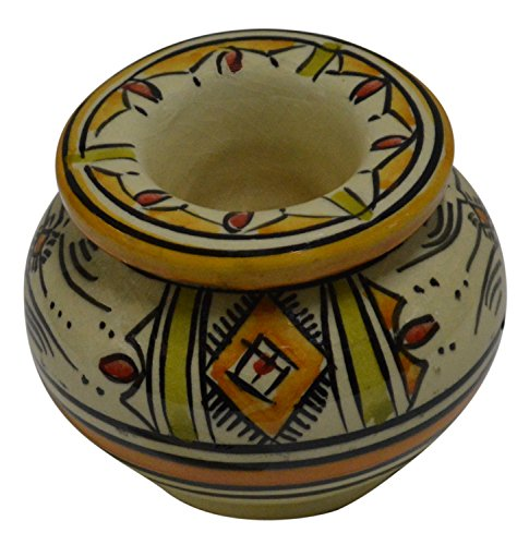 Moroccan Handmade Two-Piece Ceramic Safi Ashtray