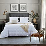 Alternative Comforter - NEWLAKE Lightweight White Down Alternative Quilted Comforter Medium Warmth Duvet,King Size