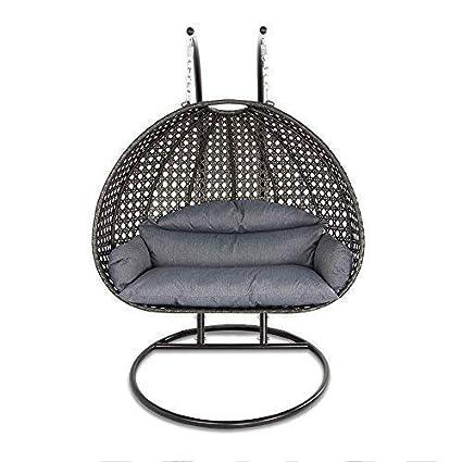 Amazon Com Island Gale Luxury 2 Person Wicker Swing Chair 2