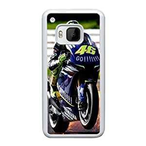 Pattern Hard Case Cover HTC One M9 Cell Phone Case White Valentino Rossi Dxrxi Back Skin Case Shell
