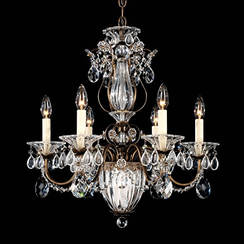 Gold Bagatelle Crystal - Schonbek 1246-22S Bagatelle 7-Light Chandelier in Heirloom Gold with Clear Crystals from Swarovski,