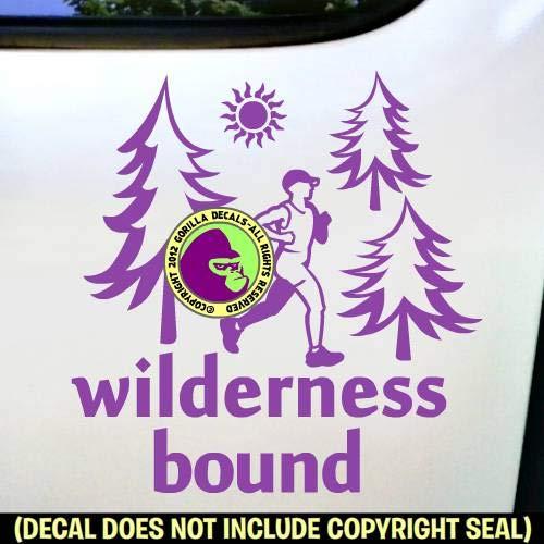 WILDERNESS BOUND Ultra Marathon Runner Vinyl Decal Sticker A