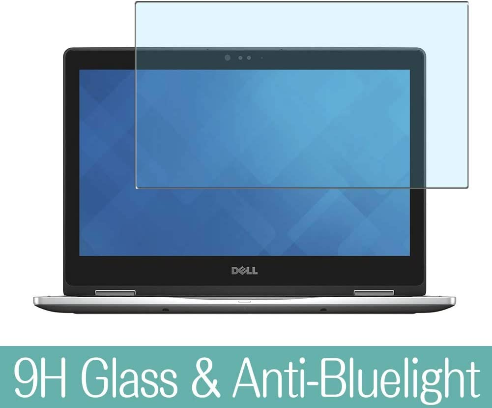 "Synvy Anti Blue Light Tempered Glass Screen Protector for Dell Inspiron 13 7000 (7375) 2-in-1 13.3"" Visible Area 9H Protective Screen Film Protectors"