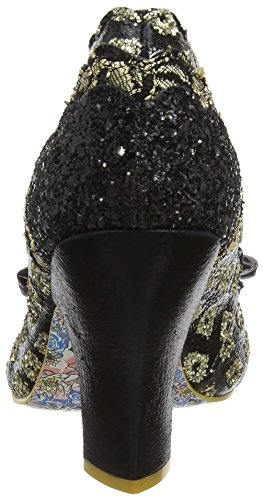 Irregular Choice Damen Curtain Call Pumps Schwarz (Schwarz/Gold)