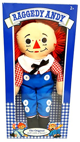 Raggedy Andy The Original Doll With a heart Plush (Andy Plush Doll)