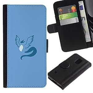 EJOY---Tirón de la caja Cartera de cuero con ranuras para tarjetas / Samsung Galaxy S5 V SM-G900 / --Articuno P0kemon Mínimo