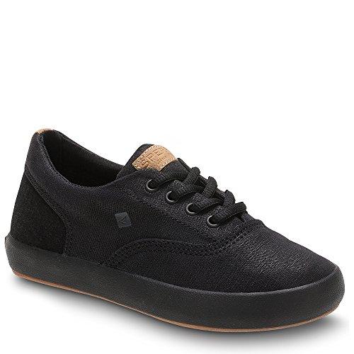 Sperry Boys' Wahoo Sneaker, Black/Black, 4.5 Medium US Big Kid