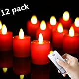 12pack Remote Rechargeable 1.5X2.4In Flameless Votive Candles (No Batteries Necessary)