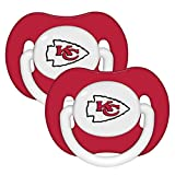 Kansas City Chiefs Red 2-pack Infant Pacifier Set - 2015 NFL Solid Color Baby Pacifiers
