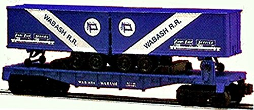 (LIONEL TRAINS 16314 WABASH FLAT CAR WITH TRAILERS )