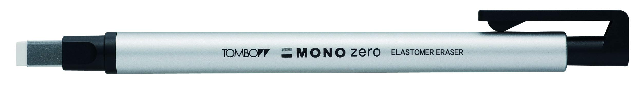 Tombow Holder Eraser, Mono Zero Square Shaper, Silver (EH-KUS04)