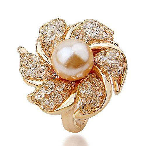 Amazon.com: Joyas Bridal Jewelry Set with Pearl and Crystal, Set De Joyeria, Joyeria De Moda CO0027: Jewelry