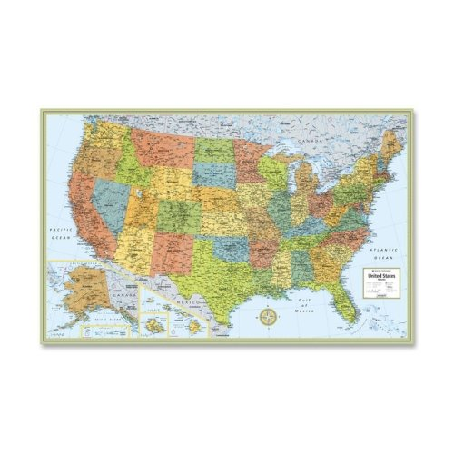 "Rand McNally United States Laminated Wall Map - 50""x32"""