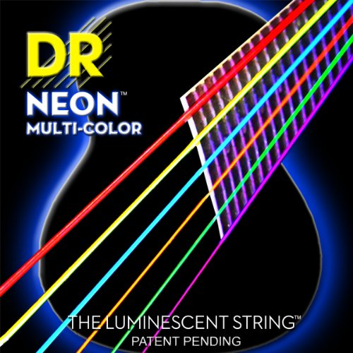 DR Strings NMCA-12 Multi-Color Strings Lite Coated Phosphor
