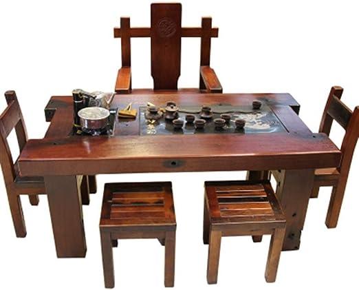 BEYTII Nave Vieja Mesa de té, sillas, Juegos de té de combinación de los hogares, Kung
