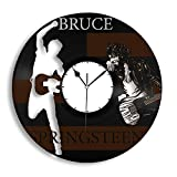VinylShopUS Bruce Springsteen Vinyl Wall Clock Music Bands and Musicians Themed Personalized Decor