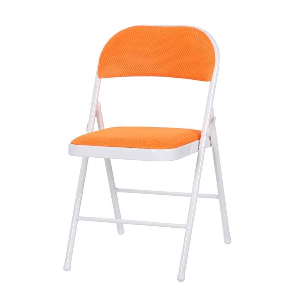 orange Folding Chair Adjustable Balcony Leisure Chair (color   bluee)