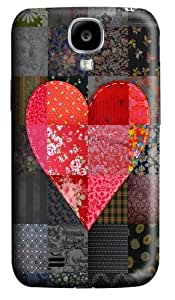 Patched Heart PC Case Cover for Samsung Galaxy S4 and Samsung Galaxy I9500 3D