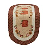 DII 14x36'' Jute/Burlap Table Runner, Country Pumpkins - Perfect for Fall, Thanksgiving, Catering Events, Dinner Parties, Special Occasions or Seasonal Décor