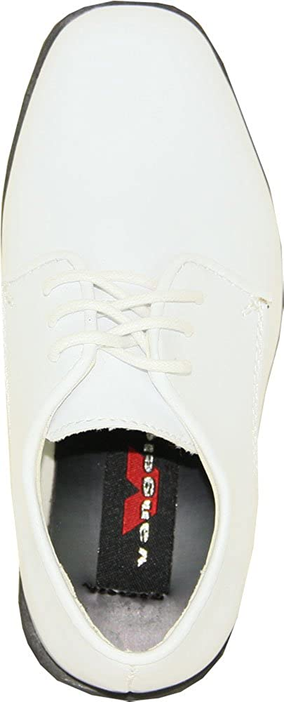 9b29da445e6a5 VANGELO Boy Tuxedo Shoe TUX-1K Square Toe Designed for Wedding and Formal  Events with Wrinkle Free Material White Patent 12K