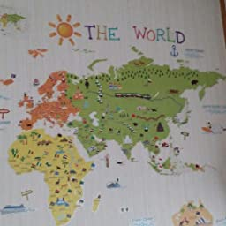 Amazon Decowall カラフルな世界地図 ウォール ステッカー デコ 中 Dwl 1616s ウォールステッカー オンライン通販