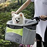 Bicycle Dog Leash - Petsfit Dog Baskets/Pet Carrier for Bicycle, with Big Side Pockets and Soft Pad, for Pets up To 10 LBS