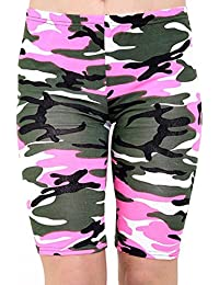 Womens Printed Cycling Stretchy Lycra Short Ladies Fancy Sports and Dance Wear Short S/XXL