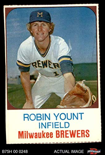 1975 Hostess # 80 Robin Yount Milwaukee Brewers (Baseball Card) Dean's Cards 3 - VG Brewers