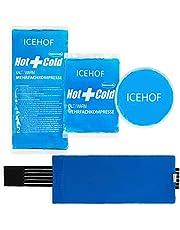 ICEHOF Koelpads (3x) met vlieshoes - incl. klittenband - knuffelzacht, lange koelduur, koelpack gel koelelement koelgel koelkompres koelkussen koelkompressen koelzak ijszak koudekompres