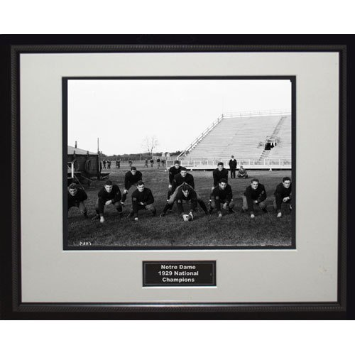 NCAA Notre Dame Fighting Irish 1929 National Championship Team Portrait Framed Igned 16x20 Photo by Steiner Sports