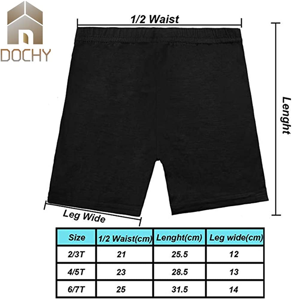 6 Pack Dance Shorts Under Dress Girls Bike Short for Sports Breathable and Safety 6 Color Under Skirt Shorts for Girls: Clothing
