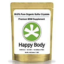 Organic Sulfur Crystals - 99.9% Pure MSM, Premium MSM Supplement. Natural MSM Crystals - Best Quality and Absorption. (1 Pound Pack) ** Very Fast Shipping Avg 3 - 5 Days. **