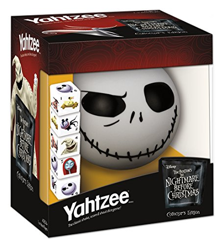YAHTZEE Tim Burton's The Nightmare Before Christmas Collector's Edition Jack Skellington -