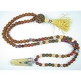 Yoga Rudraksha Japamala Navgraha Stone Meditation Healing Jewelry- Remove Obstacles