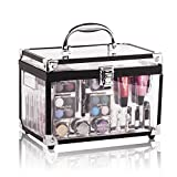 Image of Maúve Professional Makeup Kit - Eyeshadow,Pedicure,manicure With Black Trim Clear Case MU10