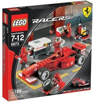 Amazon Com Lego Racers Ferrari F1 Fuel Stop Toys Games