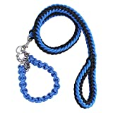 Vvhome 2 in 1 Heavy Duty Nylon Braided Collar & Pet Leash Pet Chain Rope for ...