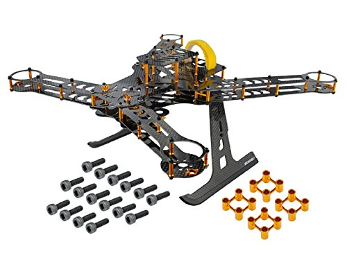 Microheli CNC Aluminum/Carbon Fiber Quadcopter Frame Kit (GOLD) - BLADE 350 QX by Microheli Co.