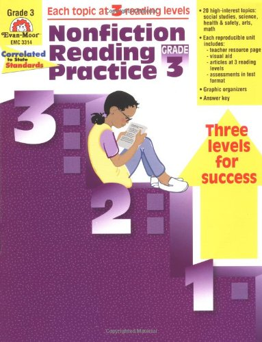Nonfiction Reading Practice, Grade 3: Evan Moor: 9781557999429 ...