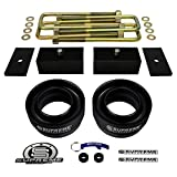 """Supreme Suspensions - F150 Lift Kit 3"""" Front Suspension Lift Heavy Duty Polyurethane + 2"""" Rear Suspension Lift + Rear Axle Shims CNC Machined T6 Aircraft Billet Ford F150 Leveling Kit 2WD 4x2 PRO"""