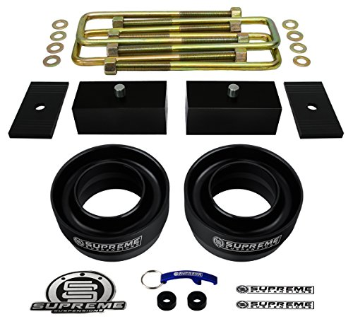 Supreme Suspensions F150 Lift Kit 3 Front Suspension Lift Heavy Duty Polyurethane 2 Rear Suspension Lift Rear Axle Shims Cnc Machined T6 Aircraft Billet Ford F150 Leveling Kit 2wd 4x2 Pro