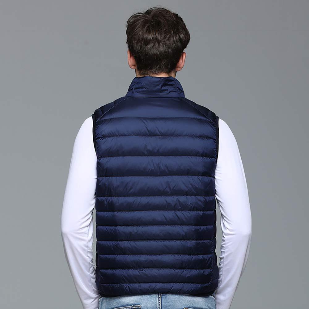 Hao Run Men Winter Light Weight Down Waistcoat Puffer Gilet Vest Coat Warmer Padded Slim