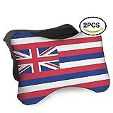 HASKDWHHK Hawaii Flag Car Neck Pillow (Soft Version)- Neck Pillow, Car Pillow, Memory Foam Neck Pillow, Neck Rest Pillow