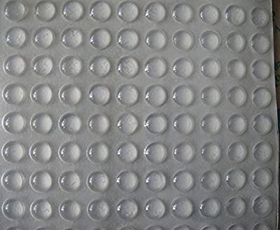 Self adhesive clear rubber bumpers