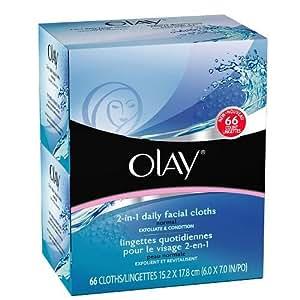 Olay 2-in-1 Daily Facial Cloths, Normal 66 ea