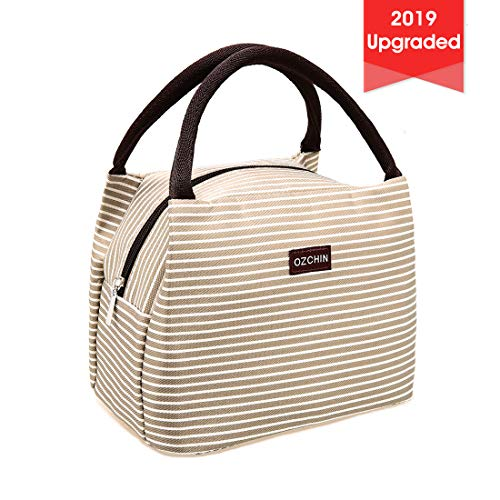 OZCHIN Insulated Lunch Bags for Women Lunch Boxes for Kids Small Lunch Box Lunch Tote Cooler Bag Fit in Backpack Teacher Appreciation Gifts (Creamy Beige)