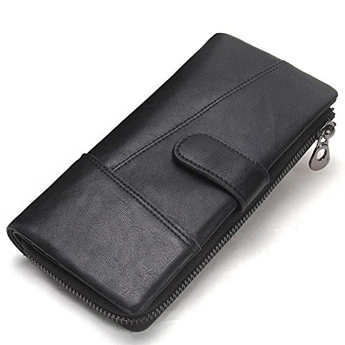 Long buckle fashionable hand leather men's held black LIGYM bag belt wallet dXFnwR