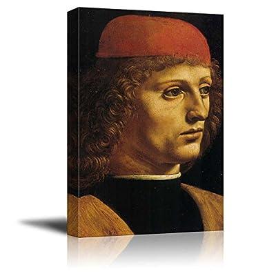 Portrait of a Musician by Leonardo da Vinci Print Famous Oil Painting Reproduction