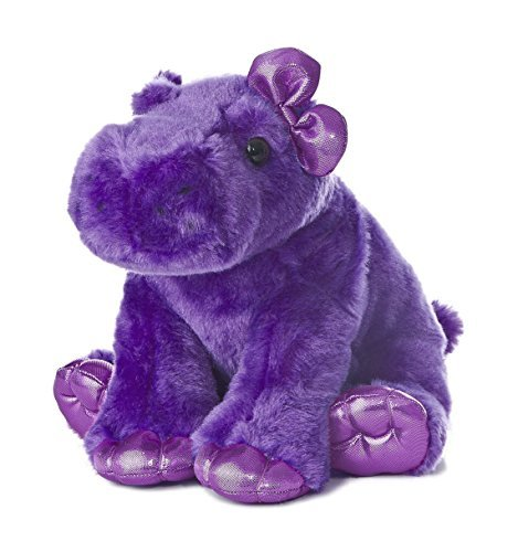 (Aurora World Girlz Nation Purple Hippo Plush, 10