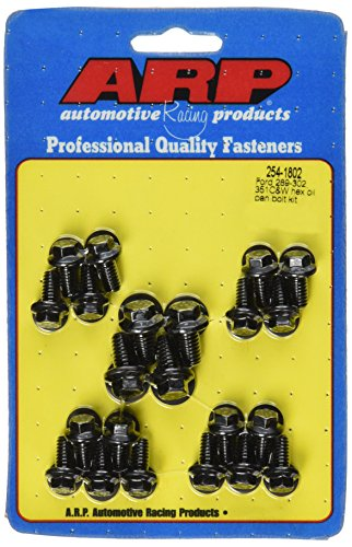 ARP 2541802 Black Oxide Oil Pan Hex Bolt Kit (1802 Oil Pan Bolts)